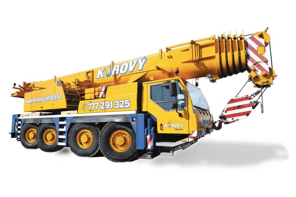 Jeřáb Liebherr LTM 1100 | Kubový s.r.o. | Pardubice, Choceň, Hradec Králové
